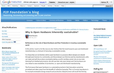 http://blog.p2pfoundation.net/why-is-open-hardware-inherently-sustainable/2011/05/24