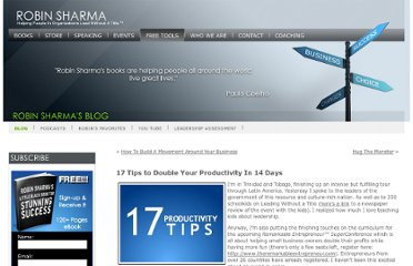 http://www.robinsharma.com/blog/05/double-your-productivity/