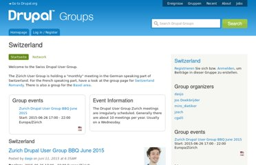 http://groups.drupal.org/switzerland