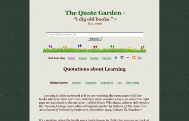 http://www.quotegarden.com/learning.html