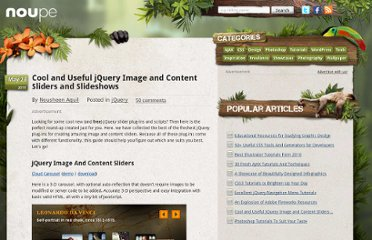 http://www.noupe.com/jquery/cool-and-useful-jquery-image-and-content-sliders-and-slideshows.html