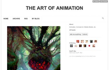 http://theartofanimation.tumblr.com/