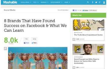 http://mashable.com/2011/05/24/successful-brands-facebook/