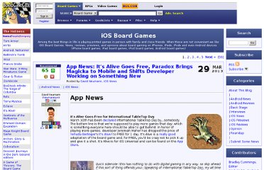 http://boardgamegeek.com/blog/164/ios-board-games