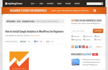 http://www.wpbeginner.com/beginners-guide/how-to-install-google-analytics-in-wordpress/