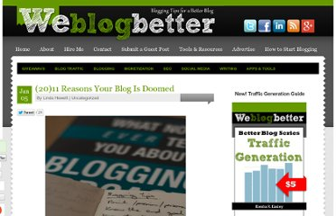 http://weblogbetter.com/2011/01/05/2011-reasons-your-blog-is-doomed/