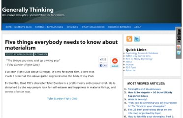 http://generallythinking.com/five-things-everybody-needs-to-know-about-materialism-2/