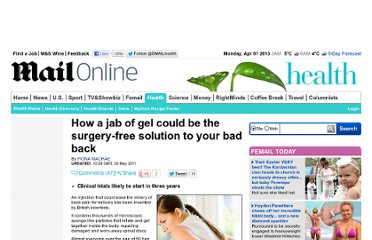http://www.dailymail.co.uk/health/article-1388881/How-jab-gel-surgery-free-solution-bad-back.html