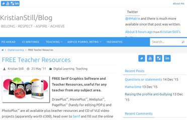 http://www.kristianstill.co.uk/wordpress/2011/05/25/free-teacher-resources/