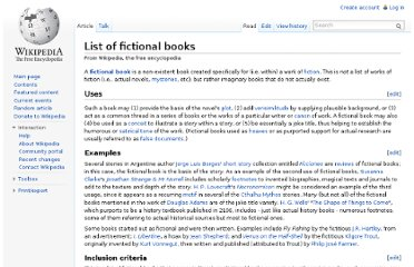 http://en.wikipedia.org/wiki/List_of_fictional_books