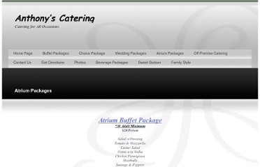 http://www.anthonyscatering.net/Atrium_Packages_ZOP9.html