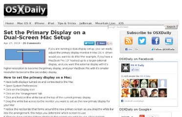 http://osxdaily.com/2010/04/27/set-the-primary-display-mac/