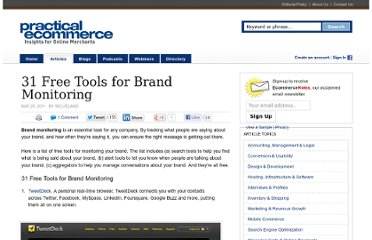 http://www.practicalecommerce.com/articles/2803-31-Free-Tools-for-Brand-Monitoring