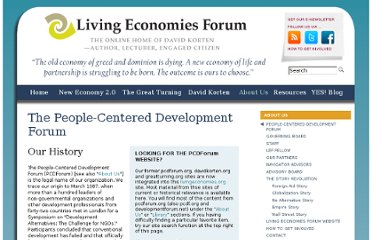 http://livingeconomiesforum.org/People-Centered-Development-Forum