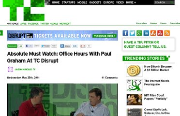 http://techcrunch.com/2011/05/25/absolute-must-watch-office-hours-with-paul-graham-at-tc-disrupt/