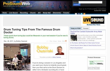 http://www.prosoundweb.com/article/drum_tuning_tips_from_the_famous_drum_doctor/