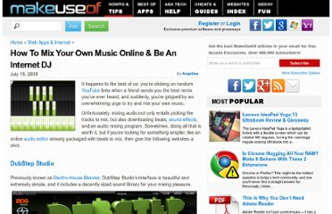 http://www.makeuseof.com/tag/be-a-dj-and-mix-music-online-without-any-software/
