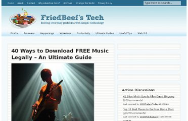 http://www.friedbeef.com/40-ways-to-download-free-music-legally-an-ultimate-guide/