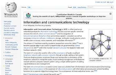 http://en.wikipedia.org/wiki/Information_and_communications_technology