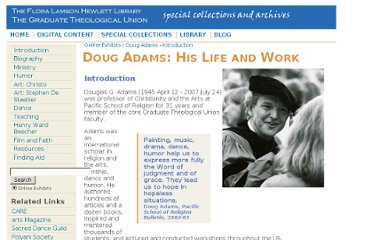 http://www.gtuarchives.org/dadams-introduction.html