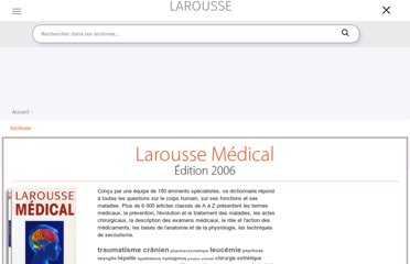 http://www.larousse.fr/archives/medical