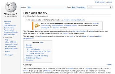 http://en.wikipedia.org/wiki/Pitch_axis_theory