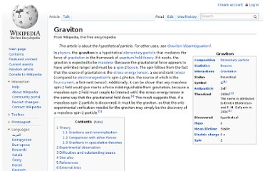 http://en.wikipedia.org/wiki/Graviton#Gravitons_in_speculative_theories