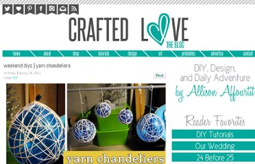 http://crafted-love.blogspot.com/2011/02/weekend-diys-yarn-chandeliers.html