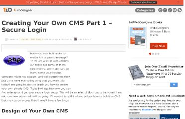 http://www.1stwebdesigner.com/tutorials/creating-your-own-cms-1/