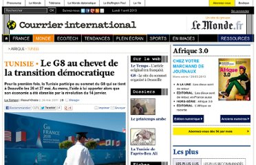 http://www.courrierinternational.com/article/2011/05/26/le-g8-au-chevet-de-la-transition-democratique