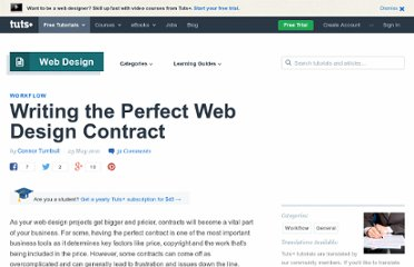 http://webdesign.tutsplus.com/articles/workflow/writing-the-perfect-web-design-contract/