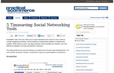 http://www.practicalecommerce.com/articles/2323-5-Timesaving-Social-Networking-Tools