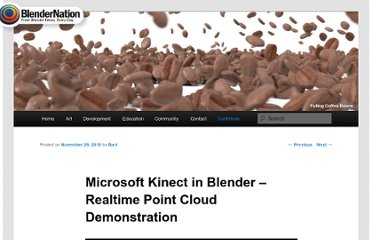 http://www.blendernation.com/2010/11/26/microsoft-kinect-in-blender-realtime-point-cloud-demonstration/