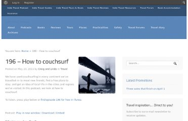 http://indietravelpodcast.com/travel/how-to-couchsurfing/