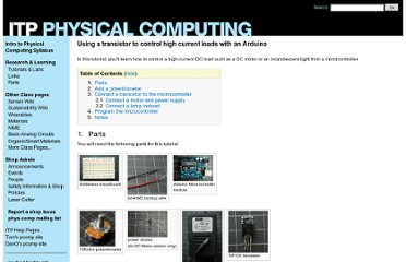 http://itp.nyu.edu/physcomp/Tutorials/HighCurrentLoads