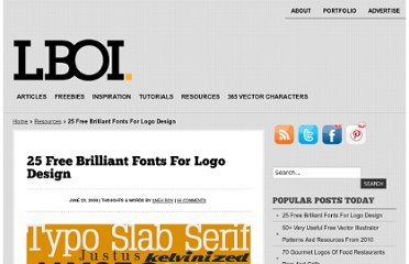 http://www.littleboxofideas.com/blog/design-resources/25-free-brilliant-fonts-for-logo-design