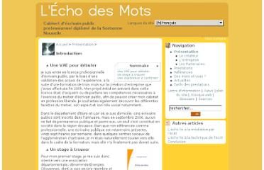 http://echodesmots.info/?Introduction