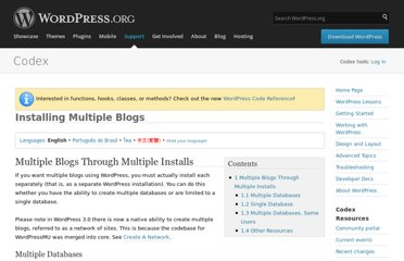 http://codex.wordpress.org/Installing_Multiple_Blogs