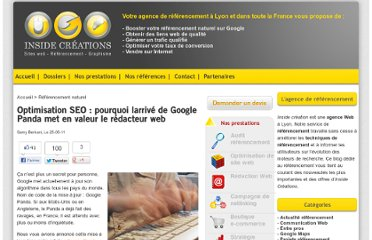 http://www.inside-referencement.com/referencement-98-optimisation-seo-pourquoi-l-arrive-google-panda-met-valeur-redacteur-web.html
