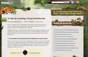 http://www.noupe.com/design/12-tips-for-creating-a-great-portfolio-site.html