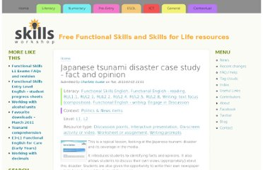 http://www.skillsworkshop.org/resources/japanese-tsunami-disaster-case-study-fact-and-opinion