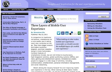 http://www.uxmatters.com/mt/archives/2011/05/three-layers-of-mobile-user-experience.php