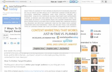http://socialmediatoday.com/ivanwalsh/249057/7-ways-define-your-blogs-target-readers