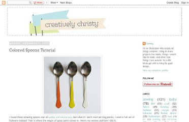 http://creativelychristy.blogspot.com/2010/11/colored-spoons-tutorial.html