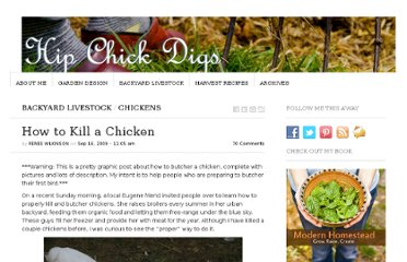 http://www.hipchickdigs.com/2009/09/how-to-kill-a-chicken/