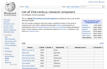 http://en.wikipedia.org/wiki/List_of_21st-century_classical_composers