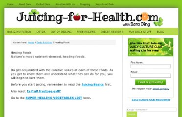 http://www.juicing-for-health.com/healing-foods.html