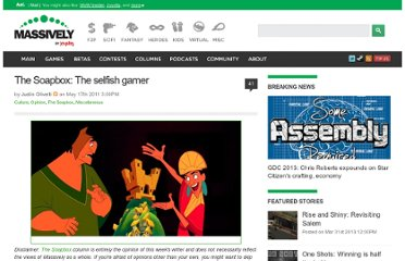 http://massively.joystiq.com/2011/05/17/the-soapbox-the-selfish-gamer/