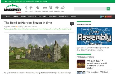 http://massively.joystiq.com/2011/05/27/the-road-to-mordor-frozen-in-time/