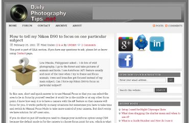 http://www.dailyphotographytips.net/question-answer/how-to-tell-my-nikon-d90-to-focus-on-one-particular-subject/